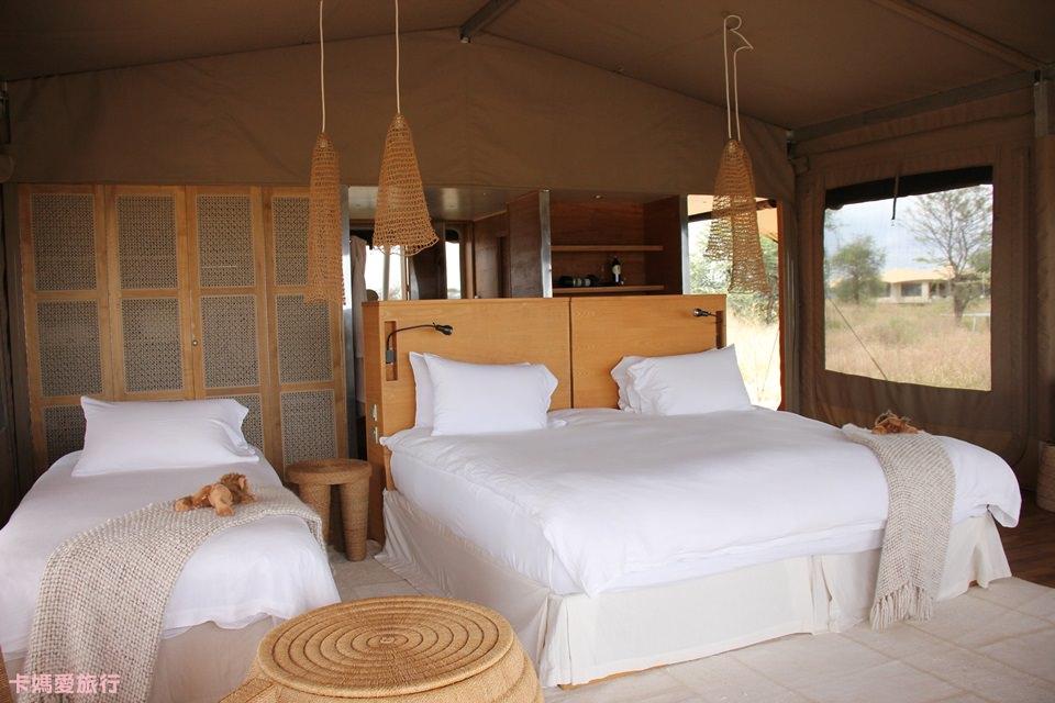 [坦尚尼亞] Tanzania Roving Bushtops 在草原中移動的頂級豪華帳篷 房間內裝、午餐分享